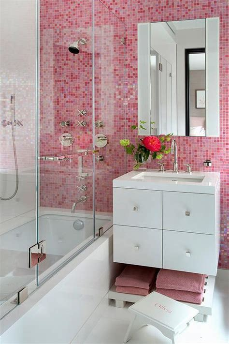 pink tiles bathroom pink bathroom tiles design ideas