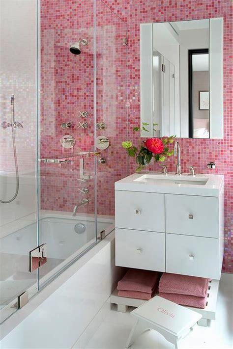 pink bathroom tiles contemporary bathroom