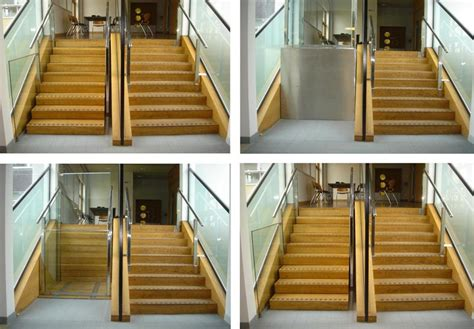 Retractable Stairs Design Retractable Stairs Open To Reveal Secret Wheelchair Lifts Urbanist