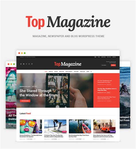 theme blog magazine top magazine news blog magazine wordpress theme by