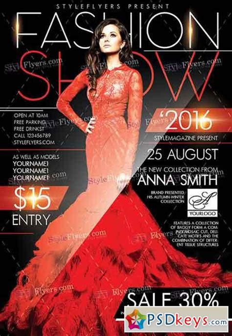 templates for fashion show flyers fashion show flyer template psd www pixshark com