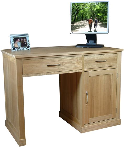 Pedestal Computer Desk Mobel Oak Single Pedestal Computer Desk