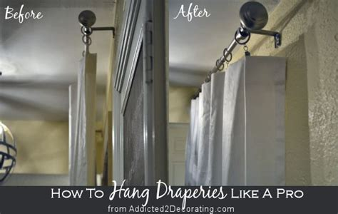 how to hang curtains with rings how to hang draperies and curtains like a designer the