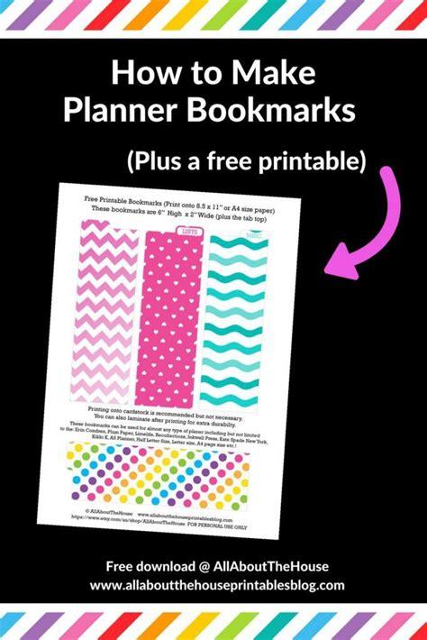 printable planner bookmark 25 best ideas about planner tabs on pinterest printable