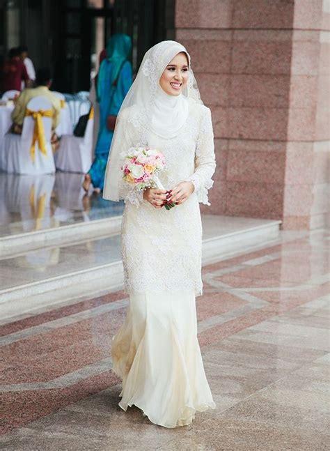 baju busana peganting musling sekarang trend model baju pengantin muslim 2016 yang memukau