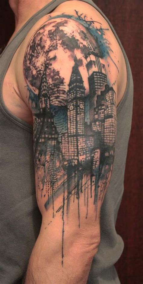 urban tattoo sleeve designs half sleeve ideas 8