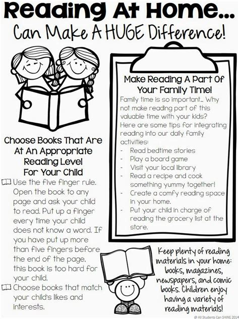Parent Letter Home About Reading Reading At Home Tips For Parents All Students Can Shine