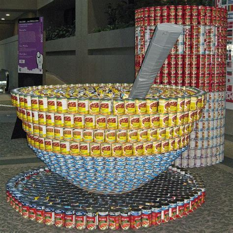 canned food sculpture ideas canned foods food art and soups on pinterest