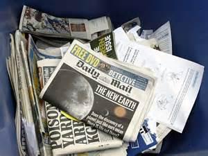 Paper Materials - councils scrap paper recycling banks following slump in