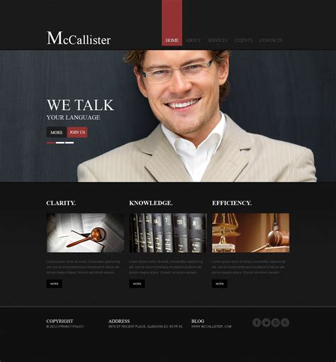 Lawyer Website Template 40512 Lawyer Web Templates