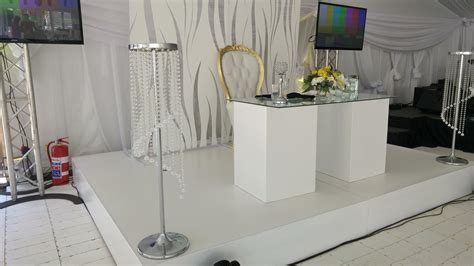 Wedding Decor, Glass Wedding Tables, White Wooden Tables