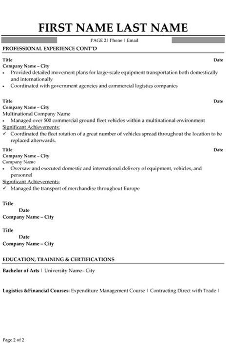 logistic advisor resume logistic resumes samples cover letter