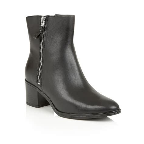 naturalizer harding ankle boots in black lyst