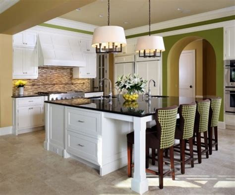 kitchens with large islands awesome large kitchen islands with seating my home