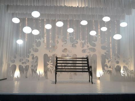 Wedding reception stage black & white western theme   Red
