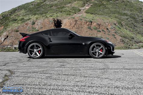 nissan 370z custom rims car nissan 370z on vossen cv3 wheels california wheels