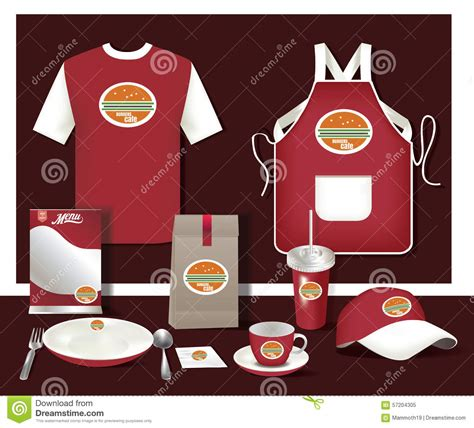 design your own cafe uniform vector restaurant cafe set flyer menu package t shirt