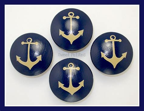 Nautical Dresser Knobs by Painted Knob Dresser Drawer Nautical Anchor Navy And