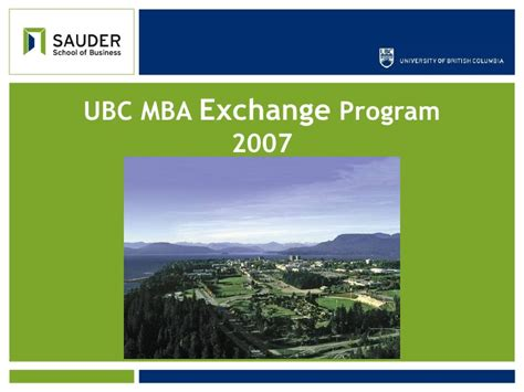 Sauder Mba How To Apply by Mba Exchange Sauder School Of Business Ubc