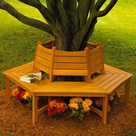 bench around tree plans made in the shade tree bench woodworking plan from wood