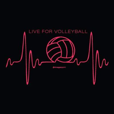 Volley Black Shirt heartbeat design black t shirt