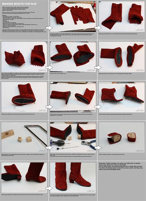 how to make shoes for boots for bjd tutorial by scargeear on deviantart
