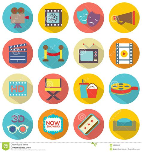 Icon Cinema Gift Card - cinema icons stock vector image 40539069
