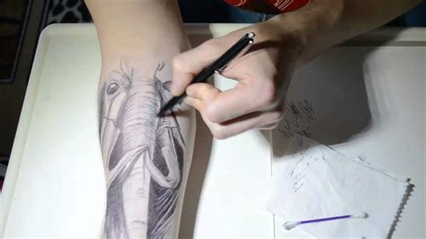 tattoo pen und tattoo schablonen ballpoint pen tattoo xd youtube