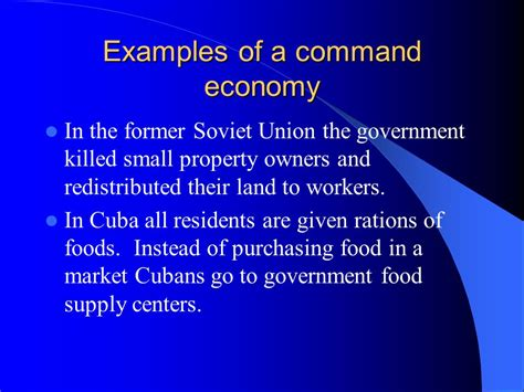 exle of market economy compare the difference between market and command economic
