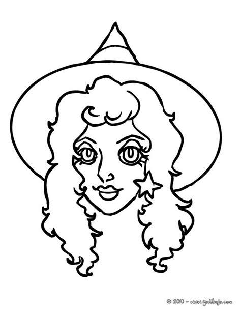 imagenes para pintar la cara de bruja dibujos para colorear retrato de hermosa bruja hallloween