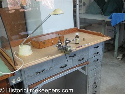 clockmakers bench watchmaker tools used images