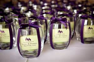 Wedding Reception Favors by Candles And Customized Matches Wedding Favor Purple