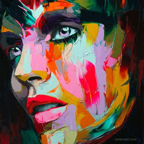 colorful portraits 25 vibrant and explosive colorful paintings by francoise