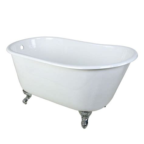 four foot bathtub aqua eden 4 4 ft cast iron polished chrome claw foot