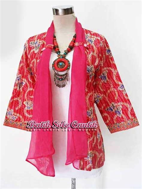 cardigan batik pink baju kerja batik