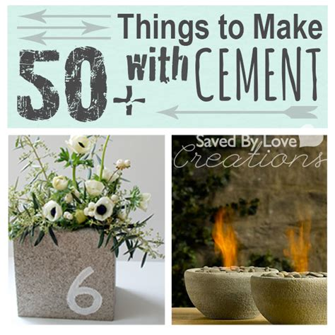 concrete craft projects 50 things to make from cement mix and concrete blocks