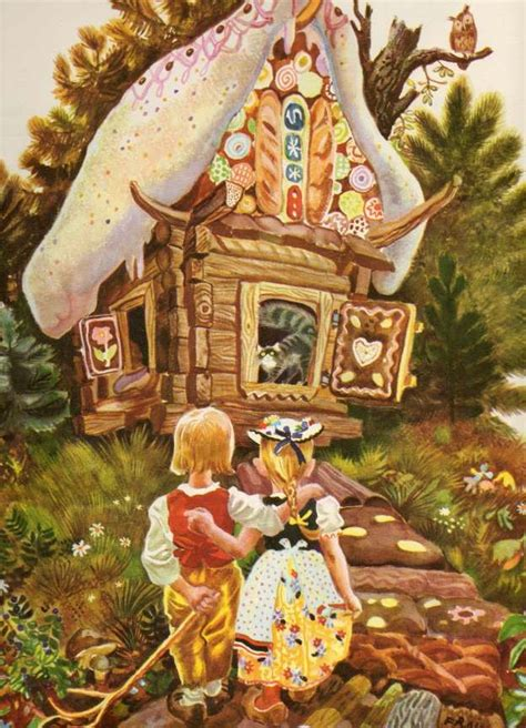 hnsel et gretel пряничный домик twin readers fairy tale illustrations musique grimm and google