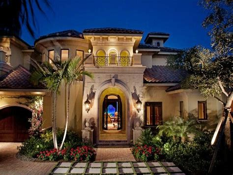 mediterranean house style weber design in naples fl stucco archway
