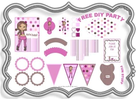 printable party decorations party decorations free diy birthday party themes