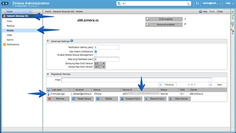zimbra mobile shared resources synchronization for activesync new in