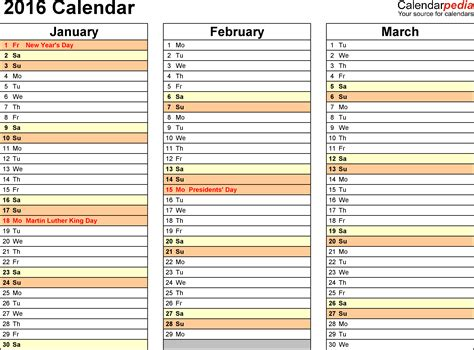 free 6 month calendar template 6 best images of printable 2016 calendar 4 month per page