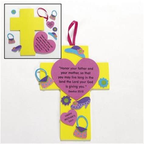 day crafts for sunday school christian s day cross craft christian craft