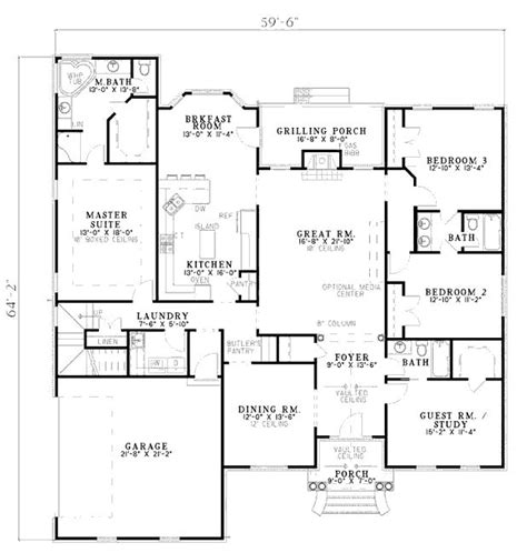 home floor plans 2500 square feet floor plan for 2500 sq ft 1 level dream home