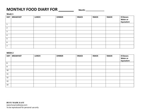 search results for daily food diary template calendar 2015