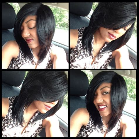 deep side part short quick weave quick weave deep side part black and lovely 10 inches
