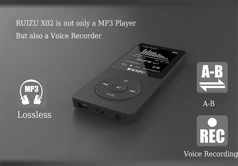 Ruizu X02 Hifi Dap Mp3 Player 8 Gb ruizu x02 hifi dap mp3 player 8gb black lazada indonesia