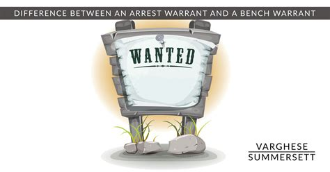 misdemeanor bench warrant what s the difference between an arrest warrant and bench