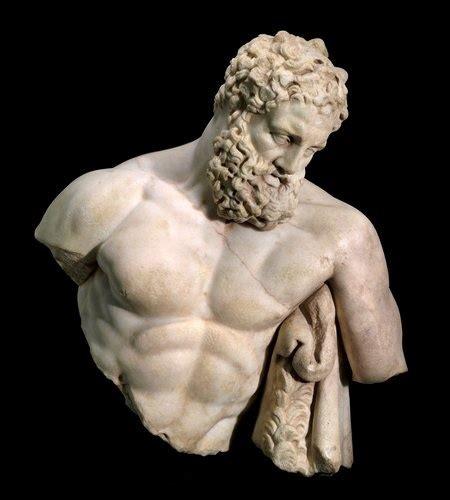 famous greek statues weary herakles not curated pinterest