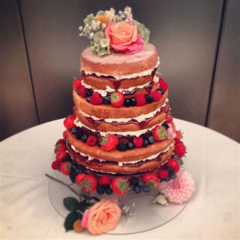 Victoria Sponge Wedding Cake   three tiers of vanilla