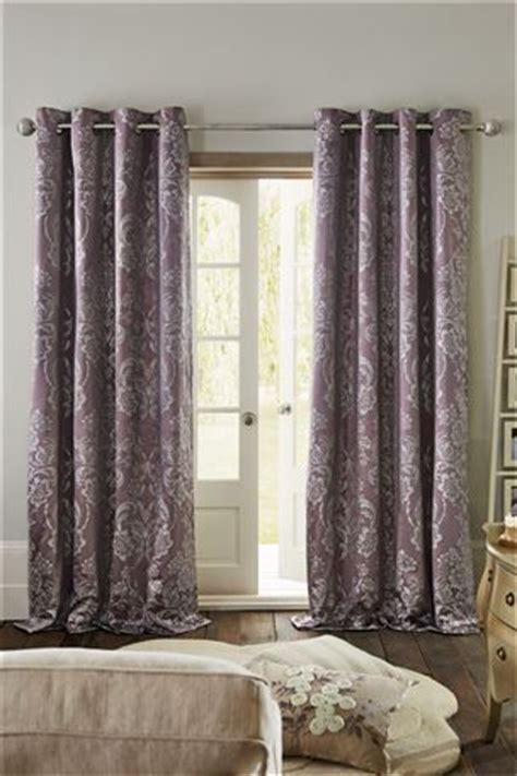 next online curtains buy metallic damask mauve eyelet curtains from the next uk